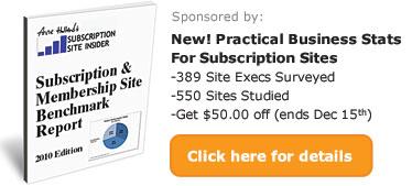 Subscription & Membership Site Benchmark Report