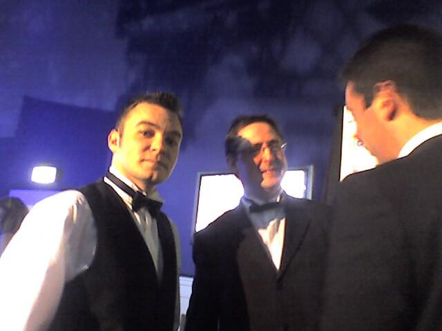 Award winners Damien and Fergus,